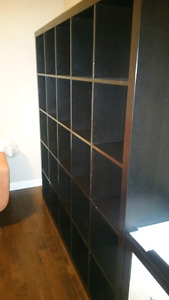 Ikea Expedit shelving unit. Black - Brown