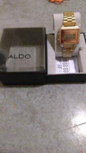 Gold Aldo Digital Watch