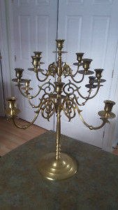 SOLID BRASS CANDLE HOLDER  ( HOLDS 13 CANDLES.)