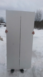 """36"""" white bifold door with hardware to install"""