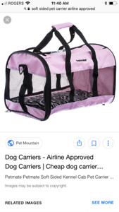 Soft pet carrier airlines approved
