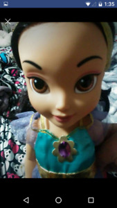 Gently used princess Jasmine toddler doll $10 firm