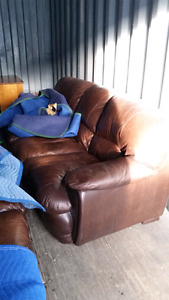 *REDUCED* Three Seater Leather Couch