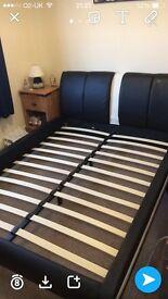 Italian Faux Leather Kingsize bed