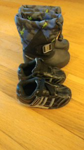 Boys Toddler size 5 running shoes & winter boots