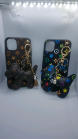 Iphone 11 phone case dog keyring