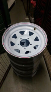 "16 ""  6 bolt    4 trailer rims  NEW   $100         Or   Trade ?"
