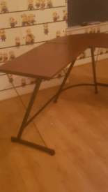 Large angled study desk for sale