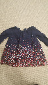6 to 12 month baby gap heart dress