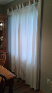 Curtains with wooden rod