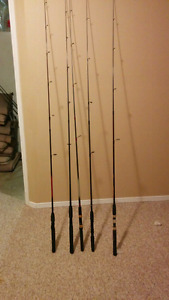 Assorted fishing rods for sale