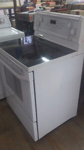 Whirlpool gold.Glass top 4 burner stove electric
