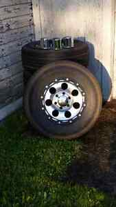 6 stud Chevy rims and tires for sale