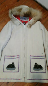 Vintage James Bay Cream Wool Inuit Parka Peterborough Peterborough Area image 1