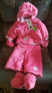 Brand new baby girl winter suit (6-12 mo), free similac coupons