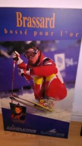 Autographed 1994 Olympic Gold Champ Jean-Luc Brassard Poster