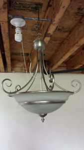 Brushed Nickel Pendant Light-Like New