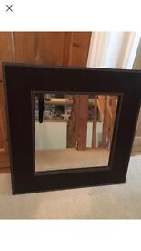 Marks & Spencer brown leather mirror