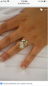 WOW PRICE TO SELL beautiful 2 HUGE diamond engagement weddingset