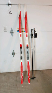 Cross country skis and boots