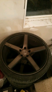 Niche 20 inch rims and tires