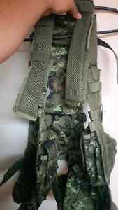 Paintball events mask and bt tactical vest