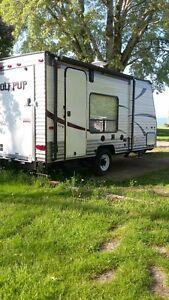 17' Toy hauler camper