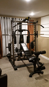 Nautilus squat rack +