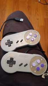2 snes usb controllers