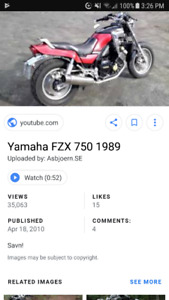 WANTED 1984 to 2000 YAMAHA FZX FAZER