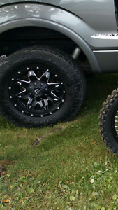 "F150 18""  fuel rims and 33"" toyo at2 extremes"