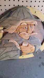 Hand crafted Wood art By local artist
