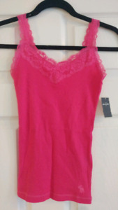Abercrombie Pink Tank Top - New, Size Girls L