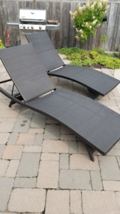 Patio Lounge Chairs - wicker wrapped