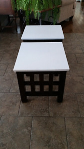 Two wooden end/ side tables / Sold PPU