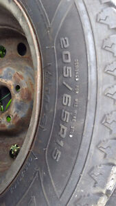 205/65R15 Studded Tire and rims