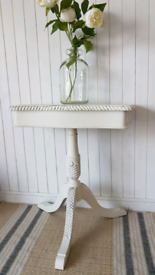 Vintage Louis xv style pedestal console table, ornate hall table