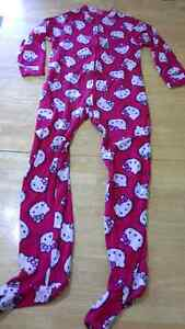 adult Hello Kitty onesie pajama with feet