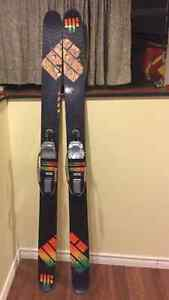 Telemark skis and bindings