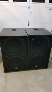 Double 18 RCF subwoofers (Pair)