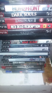 Ps3 games for sale 100 for all or individual price below