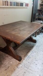 Rustic Solid Wood Farmhouse Table