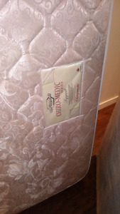 Firm Chiropractic mattress and box spring bed set