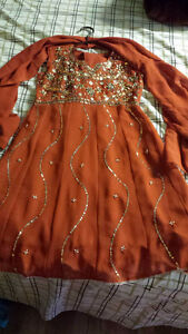 Orange Indian dress for Charity