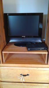 19 inch TV with stand and DVD
