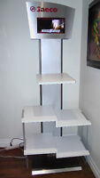 Saeco display stand with built in dvd and tv combo