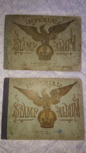 1899 Imperial Stamp albums with 450 rare stamps