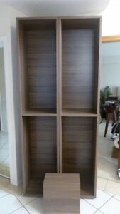 2 Walnut Bookcases