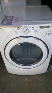 Large capacity Whirlpool dryer. In good condition and working or