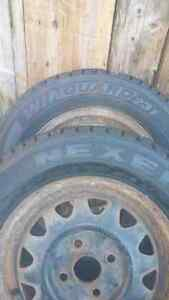 PAIR of 13 Inch Nexen Winguard winter tires.